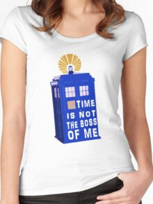 Time is not the boss of me Women's Fitted Scoop T-Shirt