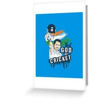 Sachin God of Cricket Greeting Card