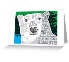 LOST Polar Bear Quote Poster Greeting Card