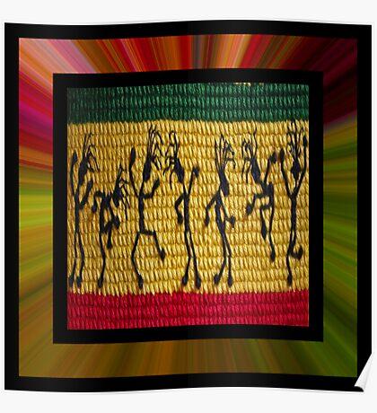 lively reggae dancers (square) Poster