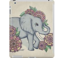 Little Elephant in soft vintage pastels iPad Case/Skin