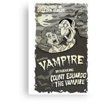 Vampire BW Canvas Print