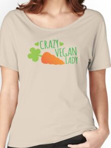 CRAZY VEGAN LADY Women's Relaxed Fit T-Shirt