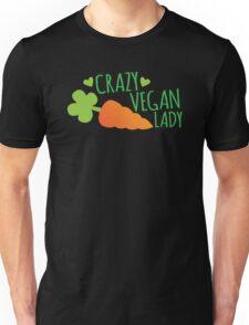 CRAZY VEGAN LADY Unisex T-Shirt