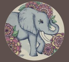 Little Elephant in soft vintage pastels T-Shirt