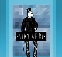 •stay weird• wolf by Alexander Traykov