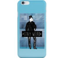 •stay weird• wolf iPhone Case/Skin