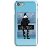 •stay weird• wolf iPhone Case/Skin