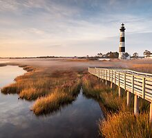 Bodie Island Lighthouse Coastal Marsh Scenic Landscape by MarkVanDyke