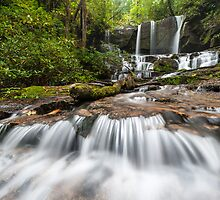 Jocassee Gorges Upcountry South Carolina Waterfall by MarkVanDyke