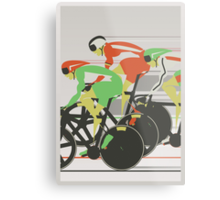 Velodrome bike race Metal Print
