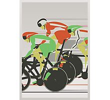 Velodrome bike race Photographic Print