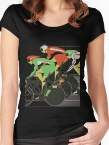 Velodrome bike race Women's Fitted Scoop T-Shirt