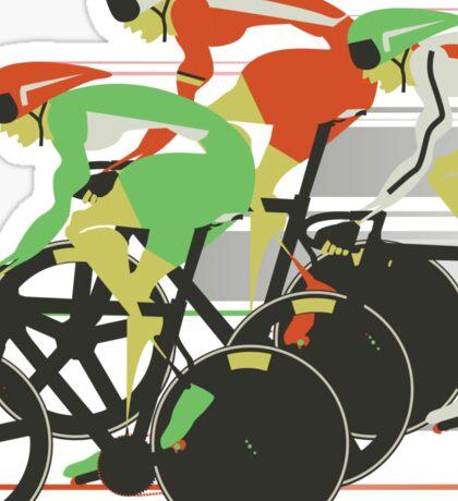 Velodrome bike race Sticker