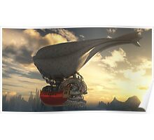 Steampunk Airship Poster