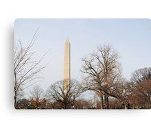 Washington Monument Behind Trees Canvas Print