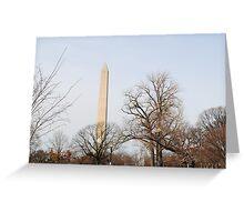 Washington Monument Behind Trees Greeting Card