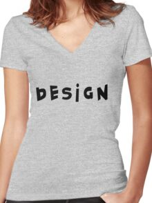 Design Women's Fitted V-Neck T-Shirt