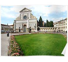 Firenze Santa Maria Novella.square and church(Italy) Poster