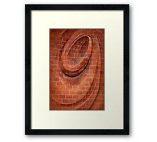 Spiral in Brick Framed Print