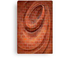 Spiral in Brick Canvas Print