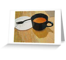 """Coffee shop"" Greeting Card"