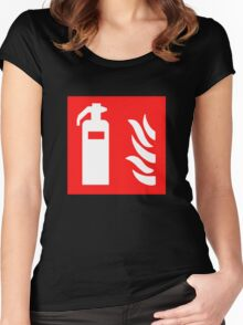 Fire Extinguisher Women's Fitted Scoop T-Shirt