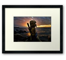 The traveler  Framed Print