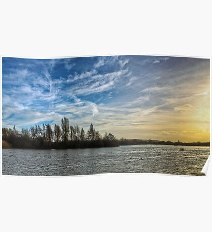 Sunset over a Nature Reserve Poster