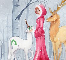 Iada and Unicorn by gurukitty