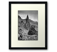 View from the Old man of Storr -Black and White Framed Print