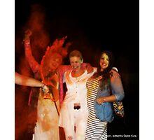 Debra at Holi fest Photographic Print