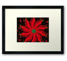 Homemade Christmas Poinsettia Framed Print