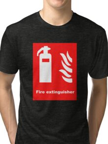 Fire Extinguisher Tri-blend T-Shirt