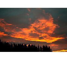 Fire Clouds Photographic Print