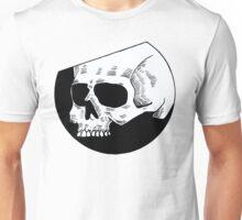 Graphic round white skull Unisex T-Shirt