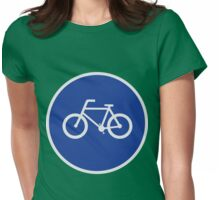 Bicycling Route Womens Fitted T-Shirt