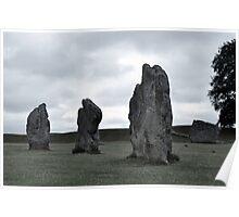 Avebury Grey ~ Wiltshire 2010 Poster