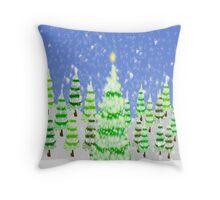 A Magicial Christmas Throw Pillow