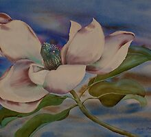 Watercolour: Magnolia Coasting by Marion Chapman