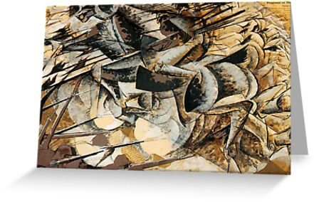 Boccioni - Charge of the Lancers by William Martin