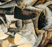 Boccioni - Charge of the Lancers Sticker