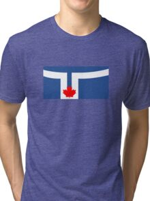 Flag of Toronto, Canada Tri-blend T-Shirt