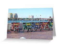 St. Petersburg Pier Transport Greeting Card