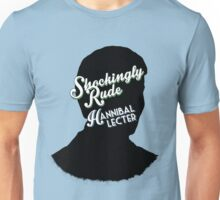 Hannibal book covers: Shockingly Rude! - Hannibal Lecter Unisex T-Shirt