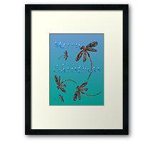 Merry Christmas Dragonflies  Framed Print
