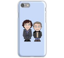 Sherlock and John mini people (phone cover) iPhone Case/Skin