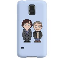 Sherlock and John mini people (phone cover) Samsung Galaxy Case/Skin