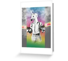 Badass Unicorn Greeting Card