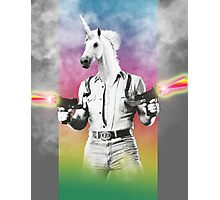 Badass Unicorn Photographic Print